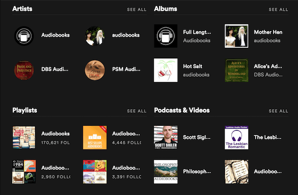 Audiobooks on Spotify