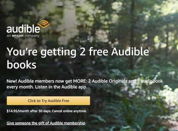 2 Free Audible Books on Sign up